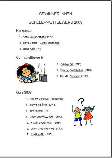 GewinnerInnen 2009